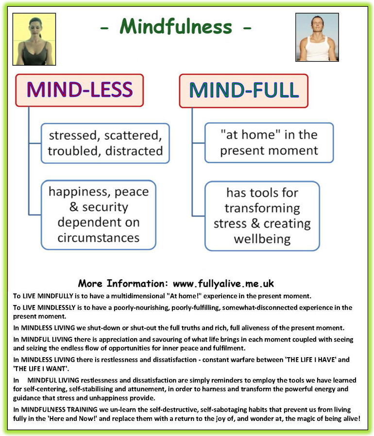 Mindfulness Training - mindful living - stress management